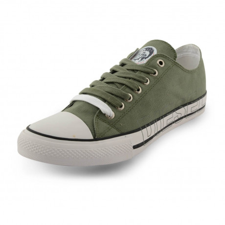 Diesel Mens Canvas Shoes Fashion Plimsolls Khaki Image