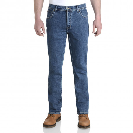 Wrangler Durable Stretch Denim Jeans Stonewash Blue Image