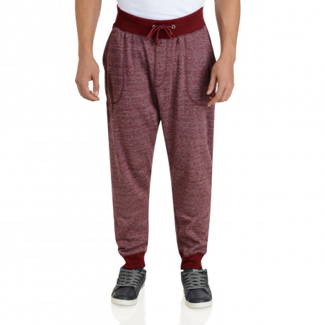 Soul Star Fleece Sweat Pants Burgundy Bottoms Image