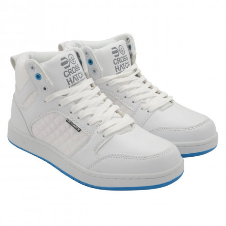 Crosshatch High Top Trainers White Image