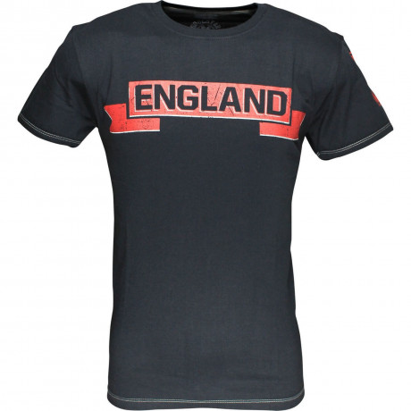 Soul Star England Banner T-shirt Navy Blue Image