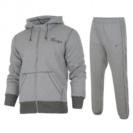 Nike Full Tracksuit  Light Grey Marl Image