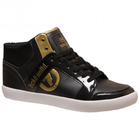 Ecko High Top Trainers Black Gold Image