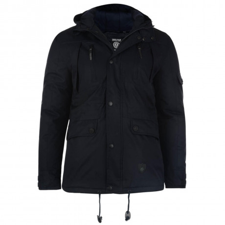 Soul Star Braggon Hooded Padded Jacket Navy Blue Image