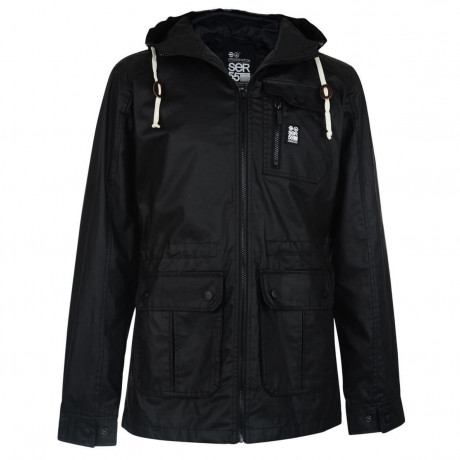 Crosshatch Shayter Hooded Jacket Black Image