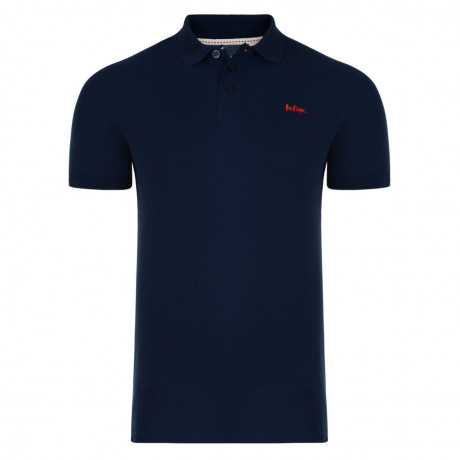 Lee Cooper Polo Pique T-Shirt Navy Blue Image
