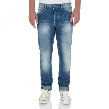 Lee Cooper Straight Fit Harry Work Jeans Light Wash Blue Image