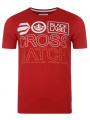 Crosshatch Crew Neck Print T-shirt Red