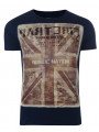 Firetrap Crew Neck Camo Union Print T-shirt Navy Blue