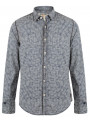 Garcia Jeans Long Sleeve Pattern Shirt Marine Blue