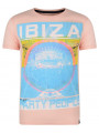 Soul Star Crew Neck Print T-shirt Ibiza Party People Salmon Pink