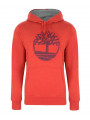 Timberland Logo Hoodie Red