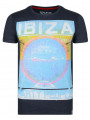 Soul Star Crew Neck Print T-shirt Ibiza Party People Navy