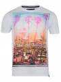 Soul Star Crew Neck Los Angeles Print T-shirt LA White