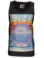 Soul Star Printed Summer Vest Top Ibiza Party People Grey