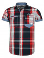 Smith & Jones Narrow Short Sleeve Check Shirt Red