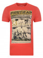 Firetrap Crew Neck Route 66 Print T-shirt Java Orange