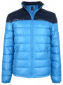 Blend Shiny Padded Puffer Jacket Sky Blue