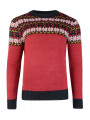 Rock & Revival Crew Neck Fair Isle Knitted Jumper Joseph Red