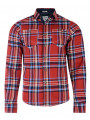 Lee Cooper Long Sleeve Check Shirt Red