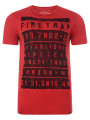 Firetrap Crew Neck Billboard Print T-shirt Red