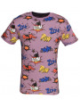 Soul Star Crew Neck Comic Print T-shirt Light Plum