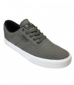 SUPRA Men's Cobalt Canvas Shoes Trainers Grey-White | Jean Scene