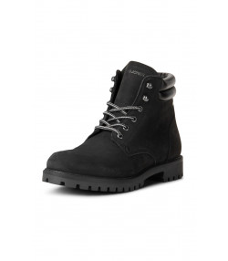 Jack & Jones Mens High Warm Nubuck Stoke Boots Black Mono Shoes | Jean Scene