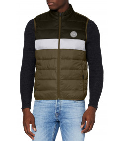 Jack & Jones Men's Casual Gilet Bodywarmer Olive Night | Jean Scene
