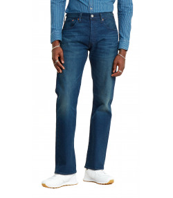 Levis 501 Denim Jeans Dark Blue Boared Tnl Blue | Jean Scene