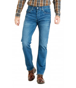 Levis 501 Denim Jeans Dark Blue Key West Sky Blue | Jean Scene