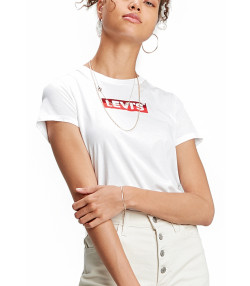 Levis Womens Box Tab T-Shirt Short Sleeve White | Jean Scene