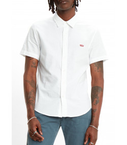 Levis HM Battery Short Sleeve Men's Shirt Slim White X | Jean Scene