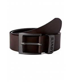 Levis Ashland Metal Buckle Logo Leather Belt Brown | Jean Scene