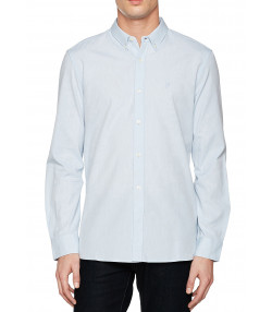 French Connection Oxford Long Sleeve Shirt Kentucky Blue | Jean Scene