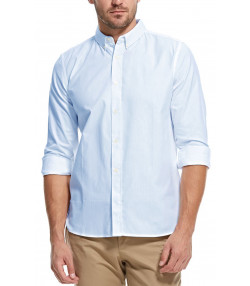 French Connection Soft Oxford Long Sleeve Shirt Kentucky Blue | Jean Scene