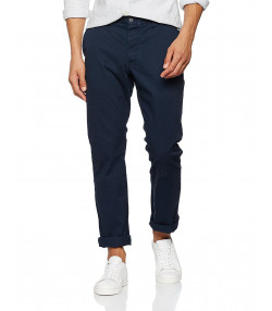 French Connection Stretch Slim Fit Cotton Chinos Marine Blue   Jean Scene