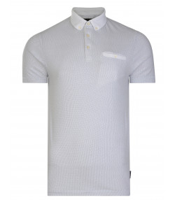 French Connection Summer Dot Ditsy Polo Pique T-Shirt White   Jean Scene
