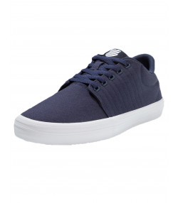K-Swiss Men's Backspin Canvas Shoes Trainers Navy/White | Jean Scene