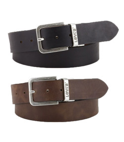 Levis Metal Buckle Reversible Leather Belt Brown | Jean Scene