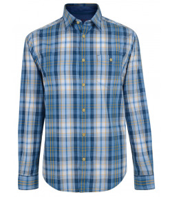Esprit Regular Fit Long Sleeve Check Shirt Ocean Blue