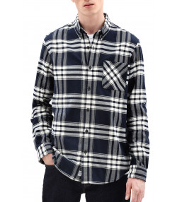 Timberland Flannel Check Shirt Long Sleeve Dark Sapphire | Jean Scene