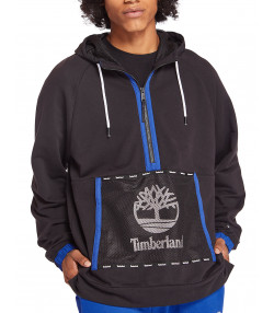 Timberland Mesh Mix Hooded Sweatshirt Black