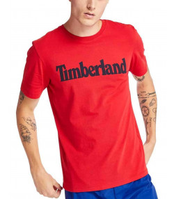 Timberland K-R Brand Tree Regular Logo T-Shirt Cherry | Jean Scene