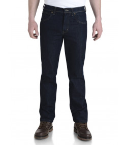 Wrangler Durable Stretch Denim Jeans Rinsewash Blue Image