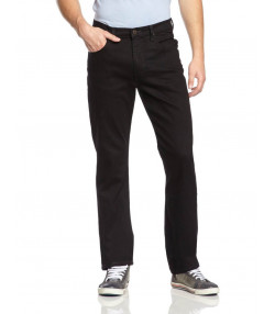 Lee Brooklyn Straight Denim Stretch Jeans Clean Black Image