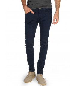 Soul Star Slim Tapered Skinny Fit Navy Blue Denim Jeans Image