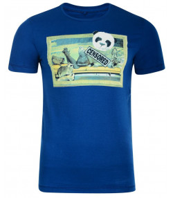 Blend Panda Girl Printed T-shirt Blue Image
