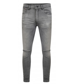 Ringspun Apollo Ripped Super Skinny Stretch Denim Jeans Grey | Jean Scene