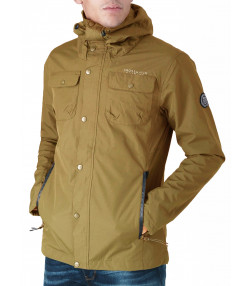 Crosshatch Men's Latte Casual Jacket Otter | Jean Scene